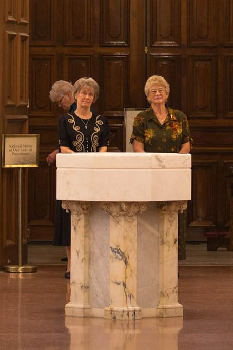 Sister Jeanne Hagelskamp and Sister Jenny Howard