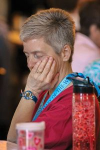 Providence Associate Joan Frisz in prayerful contemplation during the Chapter.