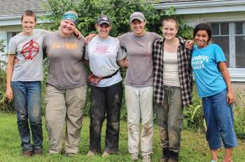 Interns are the lifeblood of White Violet Center for Eco-Justice. Those pictured from left are, Maren Van Cleave, Megan Viesselman, Breanna Mekuly, Joelle Axton, Maggie Hoglund, and Dana Abascal. Learn more at  Internship.WhiteViolet.org.