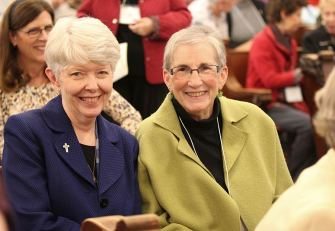 Sister Marsha Speth with her Providence Associate companion Karen Sue Goehl.
