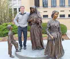 Sculptor and Jasper native Nick Ring, feels right at home, having worked on the statue for over a year. The two children are said to be fashioned on his own children.