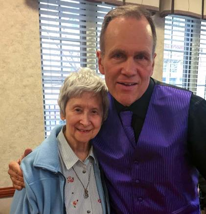 Rod Marino came to entertain the sisters in March and was happy to see his 8th grade teacher, Sister Terese Marie Havlik, for the first time in nearly 50 years.
