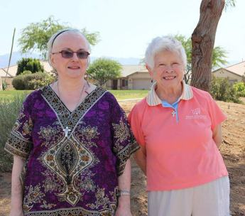 Sisters Loretta and Carol in California's Coachella Valley.
