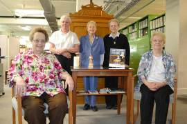 The Sisters of Providence of Saint Mary-of-the-Woods, Indiana, Archives Department includes (seated, from left) Sister Marianne Mader, Sister Janet Gilligan, (back, from left) Sister Maureen Abbott, Sister Mary Rita Griffin and Sister Marie Grace Molloy.