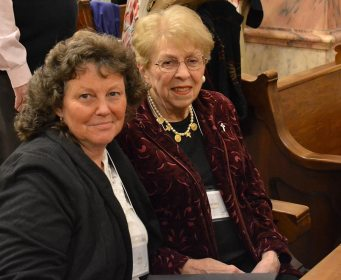 Providence Associate Mary Bales with her companion Sister Laurette Bellamy