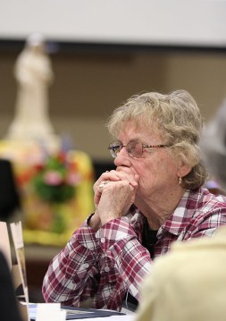 Providence Associate Betty Sloan at prayer.