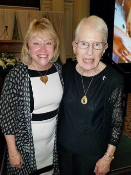 Sister Ellen Cunningham (right) with Saint Mary-of-the-Woods College President Dottie King.