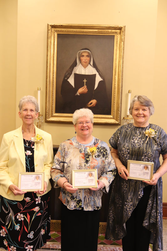 Sisters Marianne Ridgell, Jan Craven and Jody O'Neil celebrate golden jubilees.