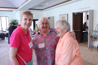Laughing it up are Sister Claire Hanson, Providence Associate Sheila Donis and Sister Teresa Costello.