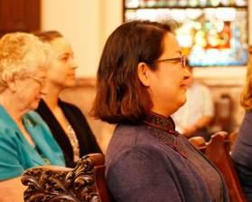 Sister Teresa Kang smiles during the ceremony