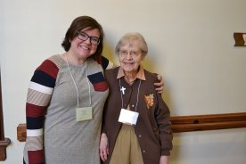 Providence Associate candidate Jessica Claybomb and her companion Sister Rosemary Borntrager.