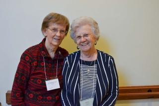 Life-long friends and Providence Associate companions Sister Theresa Clare Carr and Gloria Morgan.