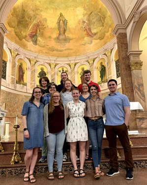 University of Scranton Students attended mass in the Church of the Immaculate Conception.