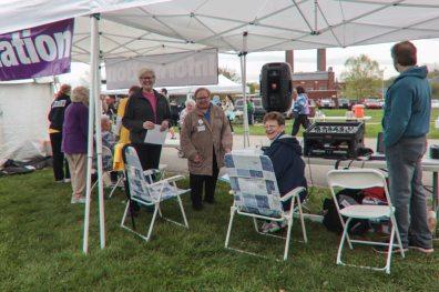 Sisters Lisa Stallings, Mary Beth Klingel and General Superior Dawn Tomaszewski were enjoying greeting everyone at the information booth.