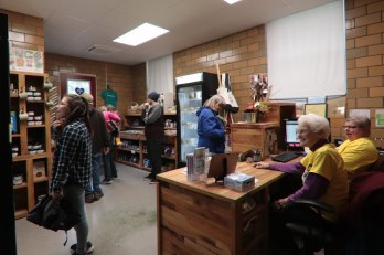 The Farm Store at White Violet Center was hopping with shoppers.