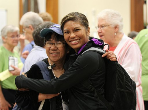 Sister Evelyn Ovalles and Postulant Jessica Vitente.