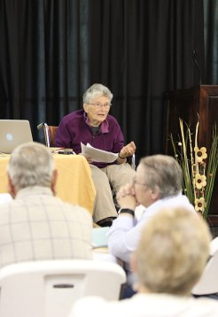"Sister Mary Lou Dolan leads a mini-retreat, ""The Wonder of Creation"" on Saturday morning."