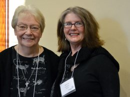 Sister Janet Gilligan and her Providence Associate candidate companion Marcia Brammer