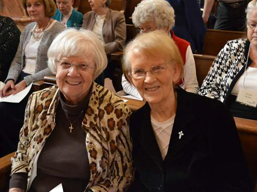 New Providence Associate Gloria Morgan and her companion Sister Theresa Clare Carr