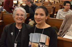 Sister companion Sister Barbara Bluntzer and new Providence Associate Kay Hassan