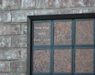 Heather Tetzlaff Smith is the first person to rest in the columbarium