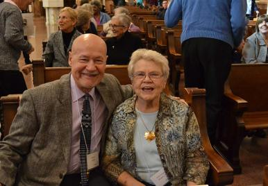 New Providence Associate Stephen Modde with his Sister companion Sister Carol Meyers