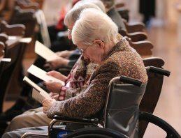 Sister Ellen Cunningham during Mass