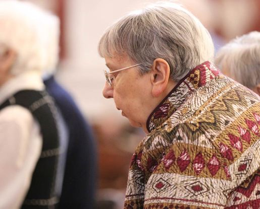 Sister Suzanne Buthod at prayer