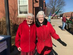 Sisters Joann Quinkert and Joseph Fillenwarth help out at the north pole zone