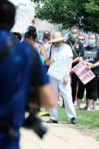 Providence Associate Joanna Dailey among the protestors
