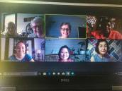 A virtual group from top left: Sisters Dorothy Rasche and Jan Craven, Providence Associates Ann Henderson and Sandy Wickware, Sisters Tracey Horan and My Huong Pham, and Providence Associate Monica Hayden