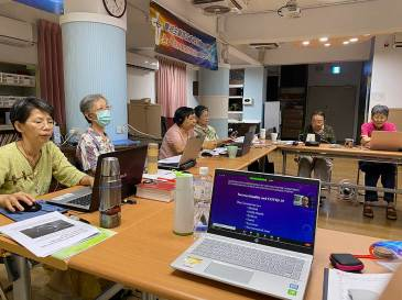Sisters of Providence in Taiwan gather to join their sisters across the globe for the Congregation's virtual annual meeting last summer. From left, Sisters Anna Fan, Sophia Chen, Rose Chiu, Celeste Tsai, Donna Marie Fu and Delan Ma.