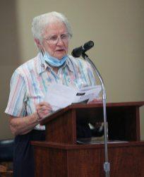 Sister Joan Mary Schaefer reads a poem