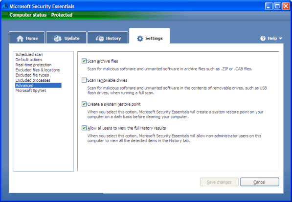 Microsoft Security Essentials 4