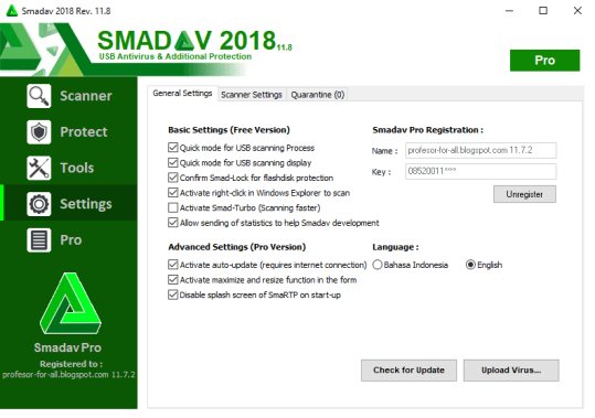 Smadav Antivirus 2018 Rev 11.8 Crack