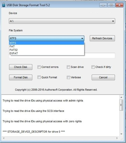 USB Disk Storage Format Tool 6.0 Build 512