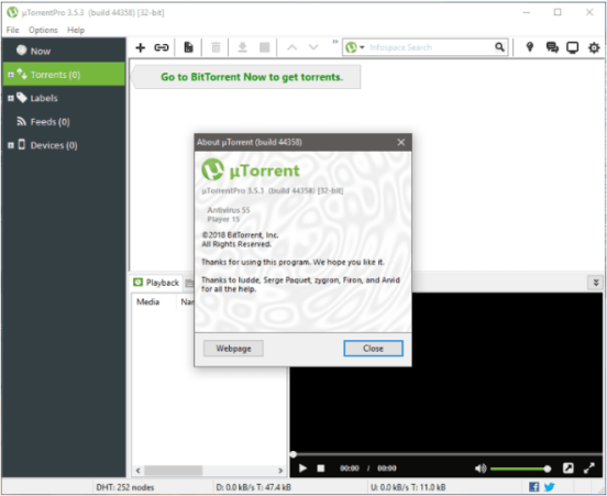 uTorrent 3.5.3 Beta 44416 Crack