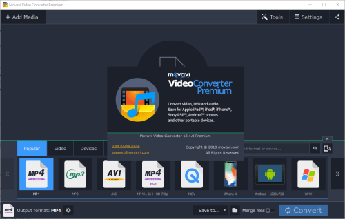 Movavi Video Converter 18.4.0 Crack