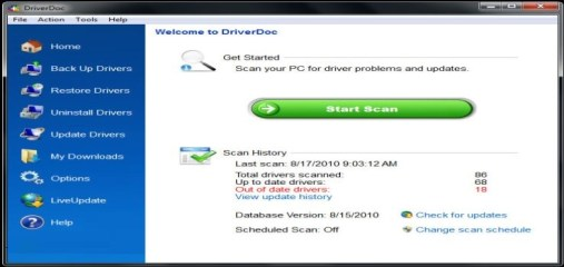 DriverDoc Product Key 2017 Crack