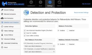 Malwarebytes Anti-Malware 3.7