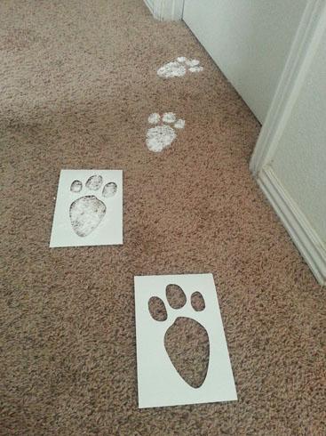 Lizy B: DIY Easter Bunny Footprint Tutorial!