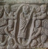 Anglo-Saxon carving at St Mary's Church, Wirksworth