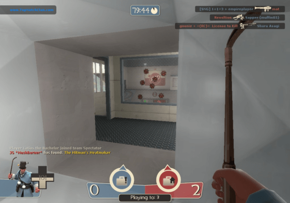 I wish I'd gotten the shot of a scout, soldier, and medic all spamming at these stickies for about a minute, trying to destroy them.