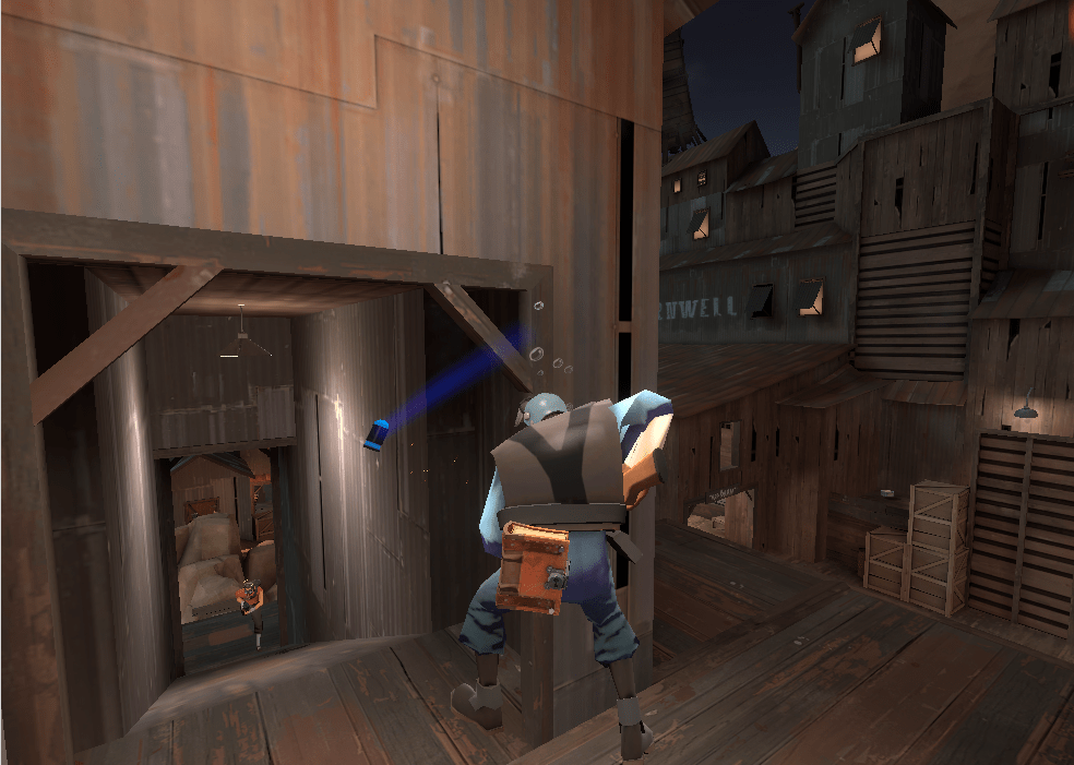 As a demoman, you excel at defeating enemies forced into narrow chokeholds. And there are a lot of doorways in Helltower...
