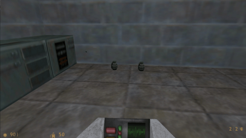 This added a peculiar bug when playing Half-Life DM maps in TFC. The server first stripped all weapon pickups from the map...but grenades weren't weapons so they stayed. These 'phantom grenades' could be picked up but not used.