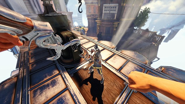 Bioshock Infinite's Sky-Hook is the logical progression; a melee weapon functioning as a mobility tool you cannot beat the game without.