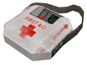 Despite being the same medkit, the Medic uses as a weapon, it lacks many of it's functions and can be consumed. Australium devices, yeah.