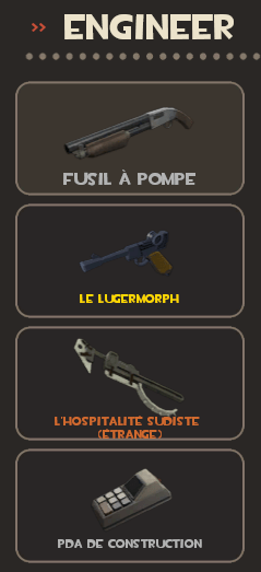 Engineer loadout