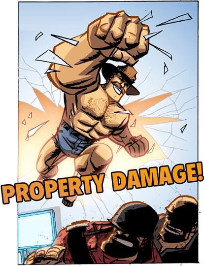 Property Damage! - Art by Michael Oeming