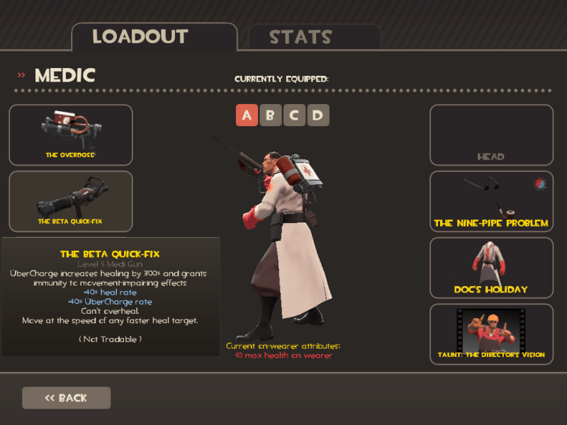 This seems as good a time as any to show off my Medic Loadout from the now-deceased TF2 Beta.